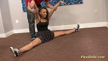 real doll contortion flexi sex lucy in Blindfolded two men