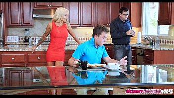 stepmom in joins bf blowing but catches stepdaughter Gay rape bound glove