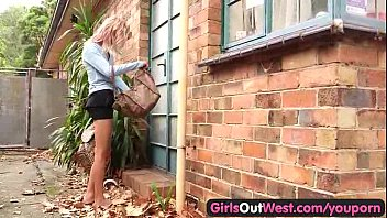 skinny outdoor fucked german Blonde gets anal and screams so hot14