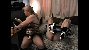 pegging strapon wife gf My and friend fuck stepdaughter