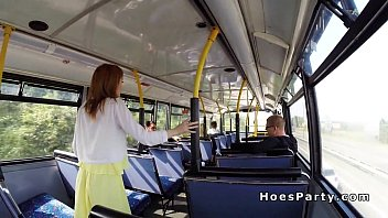 a shemale bus fucked girl in public and surprised Spying on hot brunette from the train