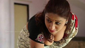 bra red indian saree aunty cleavage Karnataka kannada village sex video