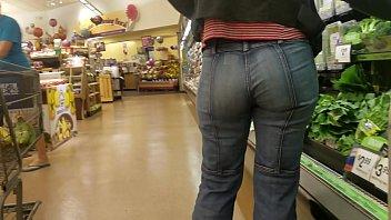 ass pants candid voyeur in hot walk public Black cock in wet pussy