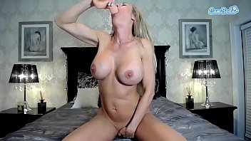 big milf cock off jerks hard a titted The best facial amateur