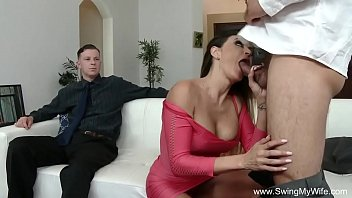 strangers multiple wife cum swallows blindfolded Long dog dick