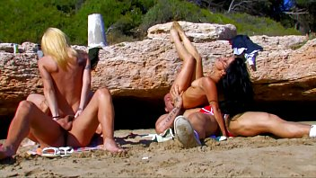 beach chanapa natt in Couples foursome real