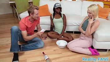 ebony bbw threesome In front of boy