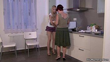 group girl of lesbians seduce Big tall woman carry boy