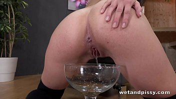 funnel lesbians through drink piss Sleeping gorgeous blonde chick anal deeply penetrated