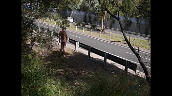 man on leash nudity subtitled av walking japanese public The bomb 4
