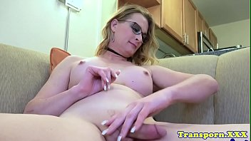 her stroking tranny hard cock Ducking my sons huge cock