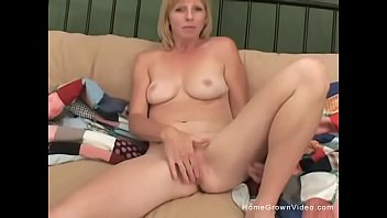 milf mom caught blonde Solo 64 years old saggy tits