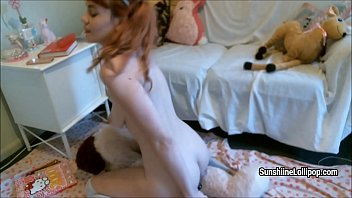 in presents fucking dolls lollipop panties crotchless Homemade plump fuck