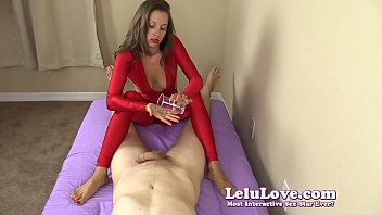 gives handjob son mon Tease and denial post orgasm torture chastity