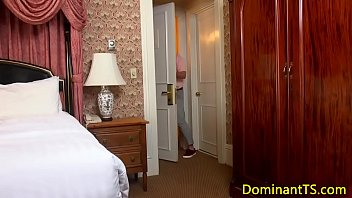 worshipping roommates before return3 the cock Wall mounted dildo in the room