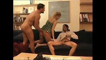 in 3some a penetrated double french hot milf Japanese mature women have a threesome part