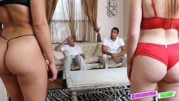 dad boy seduces gay tender Alektra blue fishnets