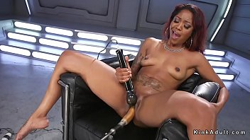 machine squirting dildo Cheating husband caught by wife threesome