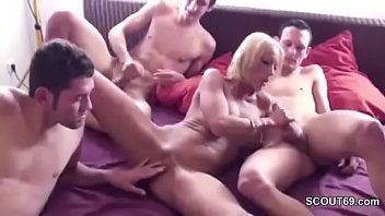 in granny visit seduced home son japonese Talk with dick in mouth