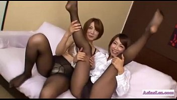 pantyhose tits saggy Asian mothers teaching daughters how to suck cock